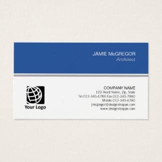 Cartão De Visitas Profissional mínimo simples da construção do