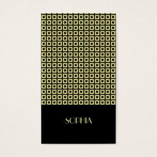 Cartão De Visitas Profissional modelado elegante amarelo