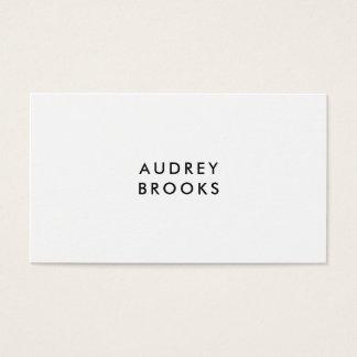 Cartão De Visitas Profissional moderno chique minimalista