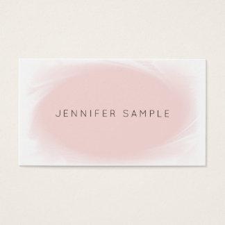 Cartão De Visitas Profissional moderno do rosa sofisticado do design