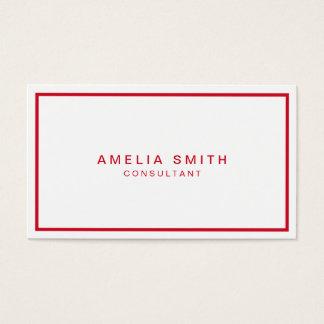 Cartão De Visitas Profissional moderno incorporado branco e vermelho