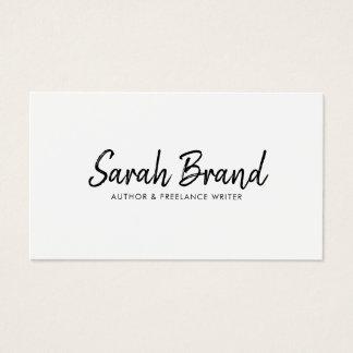 Cartão De Visitas Profissional moderno minimalista elegante