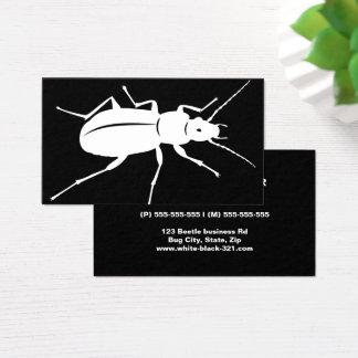Cartão De Visitas Profissional preto e branco moderno do inseto do