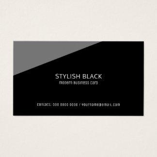 Cartão De Visitas profissional preto moderno à moda