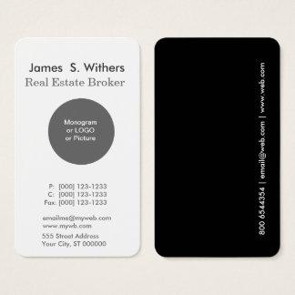 Cartão De Visitas Profissional redondo simples mínimo moderno do