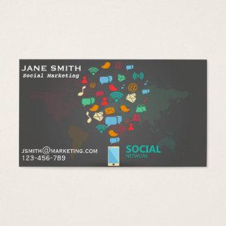 Cartão De Visitas Profissional social do marketing freelance