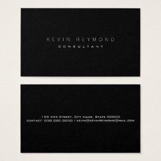 Cartão De Visitas projete seu próprio pro padrão preto