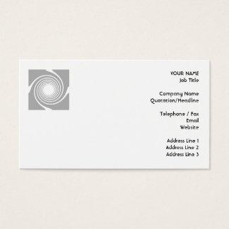 Cartão De Visitas Projeto espiral branco e cinzento