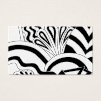 Cartão De Visitas Projeto monocromático do art deco