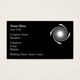 Cartão De Visitas Projeto preto e branco do redemoinho