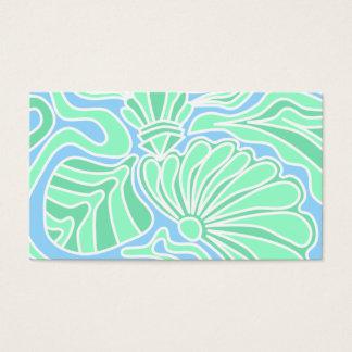 Cartão De Visitas Projeto temático subaquático decorativo