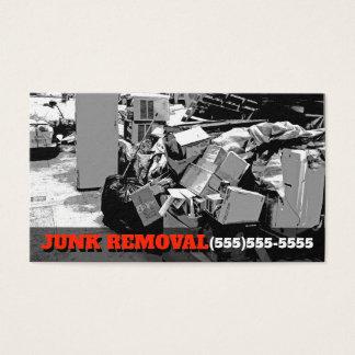 Cartão De Visitas Promo de arrasto do negócio do caminhão do lixo da