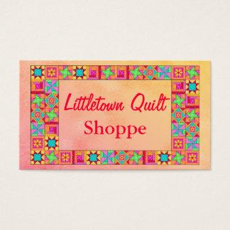 Cartão De Visitas Promoção colorida dos retalhos da beira do bloco