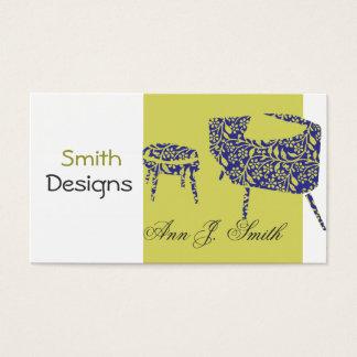 Cartão De Visitas Promocional do verde da decoração do designer de
