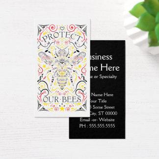 Cartão De Visitas proteja nossas abelhas