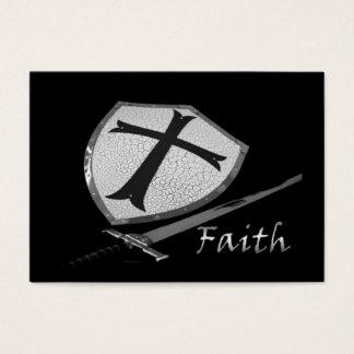 Cartão De Visitas protetor da espada da fé