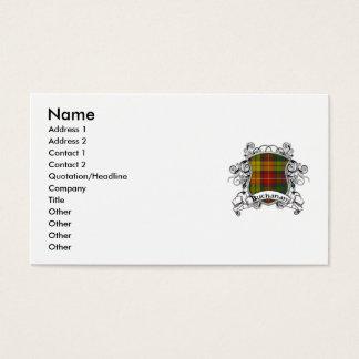 Cartão De Visitas Protetor do Tartan de Buchanan