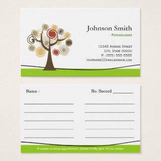 Cartão De Visitas Psicólogo - árvore elegante de nomeações de vida