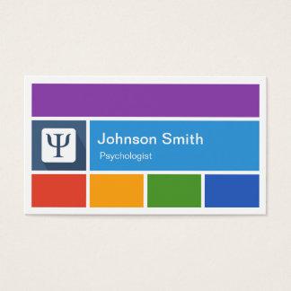 Cartão De Visitas Psicólogo - estilo moderno criativo do metro