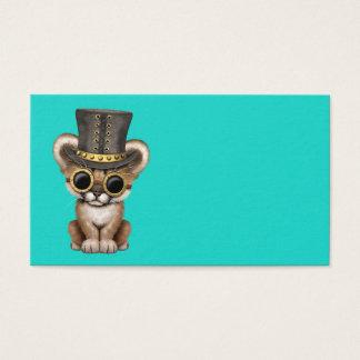 Cartão De Visitas Puma bonito Cub do bebê de Steampunk