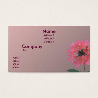 Cartão De Visitas Puramente rosa