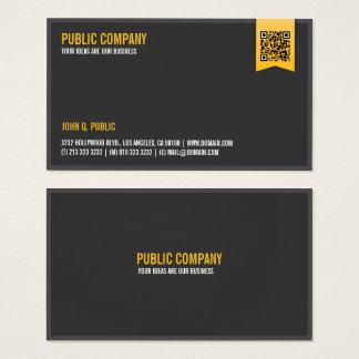 Cartão De Visitas QR-Código incorporado elegante