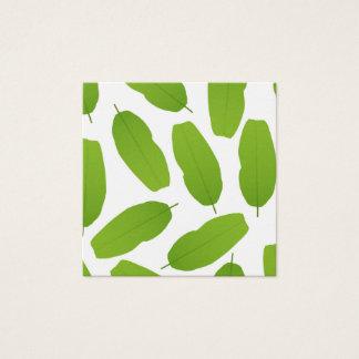 Cartão De Visitas Quadrado A banana verde sae do teste padrão