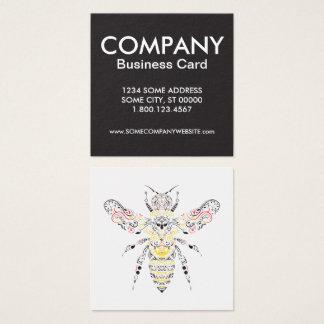 Cartão De Visitas Quadrado abelha de rainha