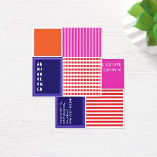 Cartão De Visitas Quadrado Apenas diferente! Colorfull e ruidosamente