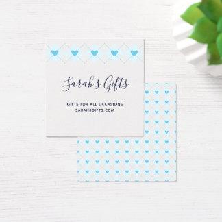 Cartão De Visitas Quadrado Argyle bonito