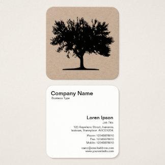 Cartão De Visitas Quadrado Árvore 04
