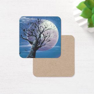 Cartão De Visitas Quadrado Árvore da lua