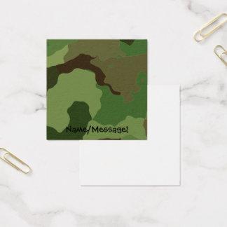 Cartão De Visitas Quadrado As forças armadas tradicionais camuflam