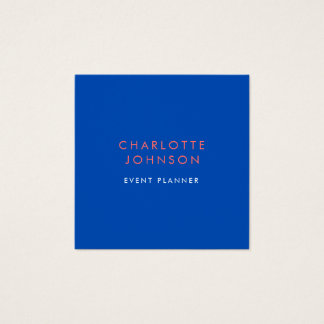 Cartão De Visitas Quadrado Azuis cobaltos minimalistas profissionais do