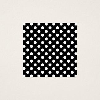 Cartão De Visitas Quadrado Bolinhas preto e branco