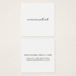 Cartão De Visitas Quadrado branco simples minimalista