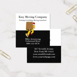 Cartão De Visitas Quadrado Caixa do motor da empresa de mudanças