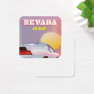 Cartão De Visitas Quadrado Carro de esportes do sol de ajuste de Nevada EUA