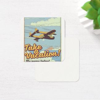 Cartão De Visitas Quadrado Cartaz do viagem do estilo do vintage do Monte