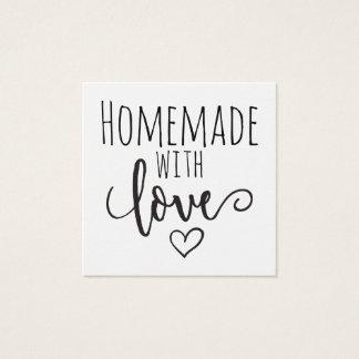 Cartão De Visitas Quadrado Caseiro com amor