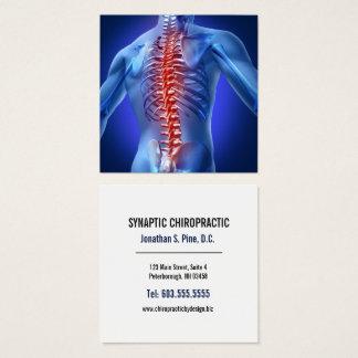 Cartão De Visitas Quadrado Chiropractor quadrado gráfico da espinha