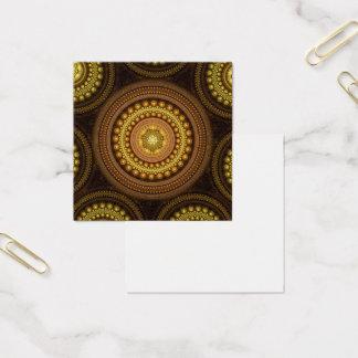 Cartão De Visitas Quadrado Círculos do Fractal
