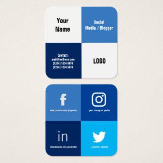 Cartão De Visitas Quadrado Cobrir moderno rachado de quatro quadrados
