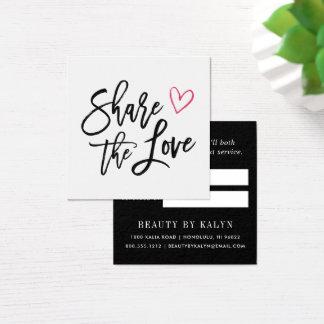 Cartão De Visitas Quadrado Compartilhe da referência do amor |