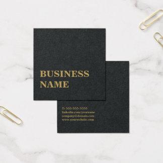 Cartão De Visitas Quadrado Consultante corajoso do ouro preto elegante