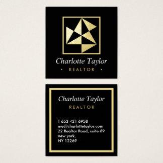 Cartão De Visitas Quadrado Consultante profissional geométrico moderno do
