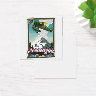 Cartão De Visitas Quadrado Cópia do poster do vôo do vintage de Aconcagua -
