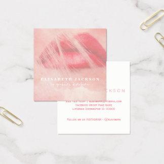 Cartão De Visitas Quadrado Cora o distribuidor cor-de-rosa do produto do