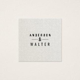 Cartão De Visitas Quadrado Corajoso simples minimalista da areia moderna