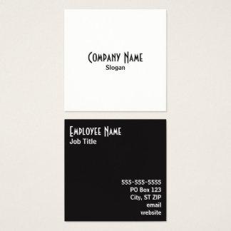 Cartão De Visitas Quadrado Cores alternas simples de sal e de pimenta